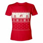 Hoppande Super Mario Jul T-shirt