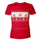 Hoppande Super Mario Jul T-shirt