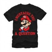 I Mustache You A Question T-Shirt, Basic Tee