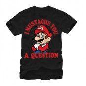 I Mustache You A Question T-Shirt, Basic Tee