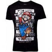 Svart Licensierad Mario Unisex T-shirt