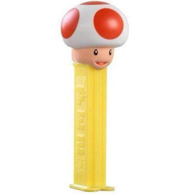 Super Mario Toad Pez-Hållare med 2 stk Pez Förpackningar