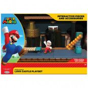 World of Nintendo - Lava Castle Playset