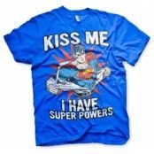 Kiss Me - I Have Super Powers T-Shirt, Basic Tee