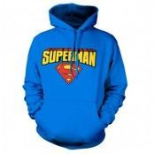 Superman Blockletter Logo Hoodie, Hooded Pullover