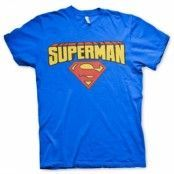 Superman Blockletter Logo T-Shirt, Basic Tee