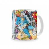 Superman Distressed Comic Strip Coffee Mug, Coffee Mug