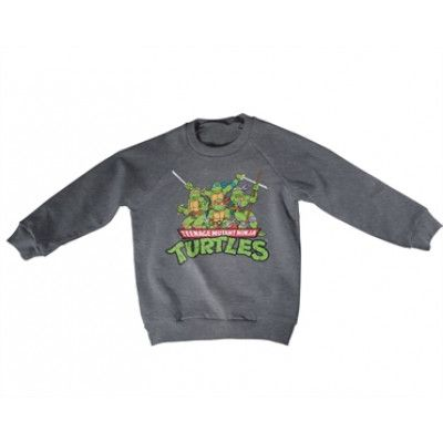Teeange Mutant Ninja Turtles Distressed Group Kids Sweatshirt, Kids Sweatshirt
