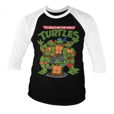 Teenage Mutant Ninja Turtles Group Baseball 3/4 Sleeve Tee, Baseball 3/4 Sleeve Tee