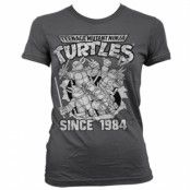 TMNT Distressed Since 1984 Girly Tee, Girly T-Shirt