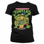 TMNT Group Girly T-Shirt, Girly T-Shirt