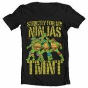 TMNT - Strictly For My Ninjas Wide Neck Tee, Wide Neck T-Shirt
