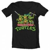 Turtles Distressed Group Wide Neck Tee, Wide Neck Tee
