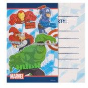 Avengers Assemble inbjudningskort - inbjudningskort - 6 st