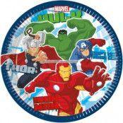 Avengers Assemble tallrikar - 23cm papperstallrikar - 8 st