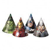 Partyhattar Avengers - 6-pack