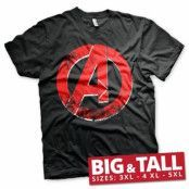 The Avengers Distressed A Logo Big & Tall T-Shirt, Big & Tall T-Shirt