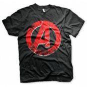 The Avengers Distressed A Logo T-Shirt, Basic Tee