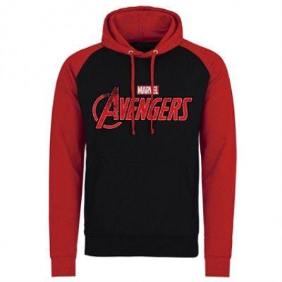 The Avengers Distressed Logo Baseball Hoodie, Baseball Hooded Pullover