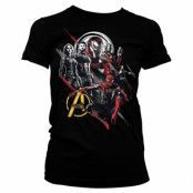 The Avengers Heroes Girly Tee, Girly Tee