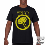 Thor Distressed Hammer Performance Mens Tee, CORE PERFORMANCE MENS TEE