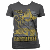 Bumblebee Distressed Girly T-Shirt, Girly Tee