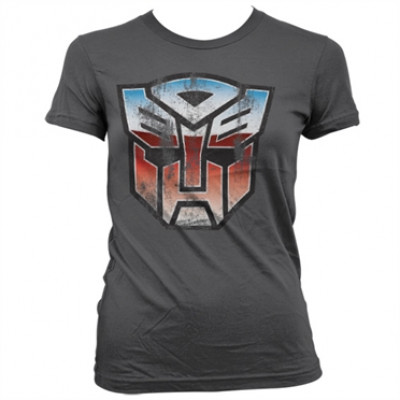 Distressed Autobot Shield Girly T-Shirt, Girly Tee