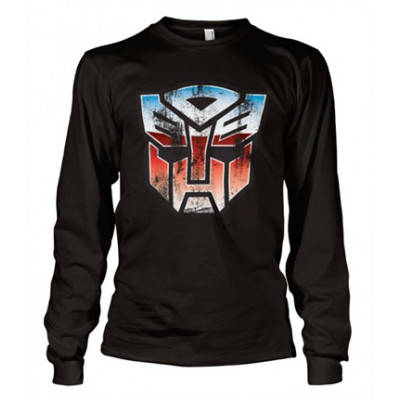 Distressed Autobot Shield Long Sleeve Tee, Long Sleeve T-Shirt