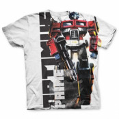 Optimus Prime Allover T-Shirt, Modern Fit Polyester Tee