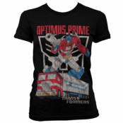 Optimus Prime Distressed Girly T-Shirt, Girly Tee