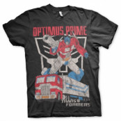 Optimus Prime Distressed T-Shirt, Basic Tee