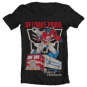 Optimus Prime Distressed Wide Neck Tee, Wide Neck Tee