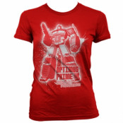 Optimus Prime Splatter Girly Tee, Girly Tee