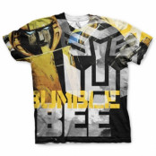 Bumble Bee Allover T-Shirt, Modern Fit Polyester Tee