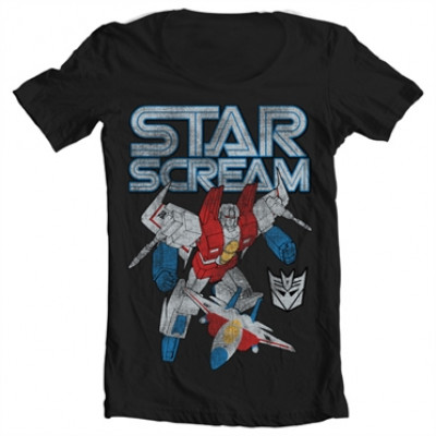 Starscream Distressed Wide Neck Tee, Wide Neck Tee