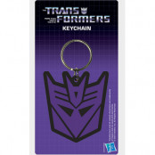 Transformers - Decepticon Logo Rubber Keychain