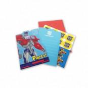 Inbjudningskort Transformers - 8 st
