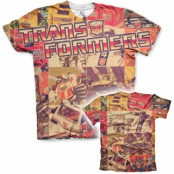 Retro Transformers Allover T-Shirt, Modern Fit Polyester Tee
