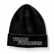 Transformers Logo Beanie, Knitted Beanie