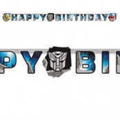 "Transformers Prime bokstavsbanderoll ""Happy birthday"" - 1,65m"