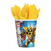 Transformers Prime pappersmuggar 266ml - 8 st