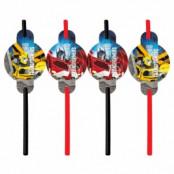 Transformers Prime sugrör - 8 st