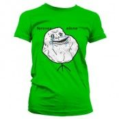 Forever Alone Girly T-Shirt, Girly T-Shirt