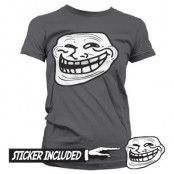 Trollface Girly Tee + Sticker, Girly T-Shirt