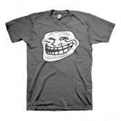Trollface T-Shirt Grå - Large