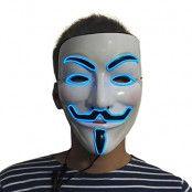 EL Wire V For Vendetta LED Mask - Grön