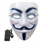 EL Wire V For Vendetta LED Mask - Gul
