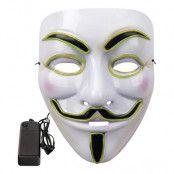 EL Wire V For Vendetta LED Mask - Neongrön