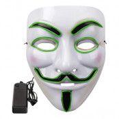 EL Wire V For Vendetta LED Mask - Rosa