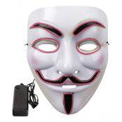 EL Wire V For Vendetta LED Mask - Turkos